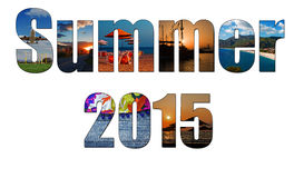 Summer images inside the word summer 2015 Stock Photo