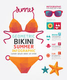 Summer Infographic Geometric Concept Design Colour Illustration Royalty Free Stock Image