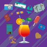 Summer infographics. Stock Photos