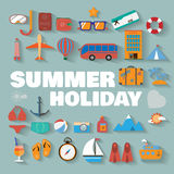 Summer infographics Stock Photo