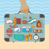 Summer infographics Royalty Free Stock Images