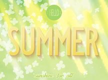 Summer inscription on nature background Stock Image
