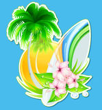 Summer insignia Stock Photography