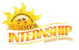 Summer Internship Stock Image