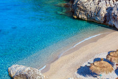 Summer Ionian sea coast, Albania. Royalty Free Stock Image