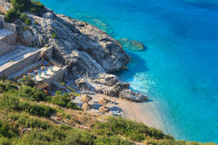 Summer Ionian sea coast, Albania. Stock Images