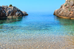 Summer Ionian sea coast, Albania. Royalty Free Stock Photo