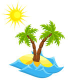 Summer island Royalty Free Stock Photo