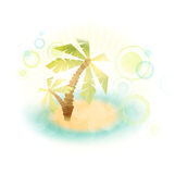 Summer island with palms Stock Photography