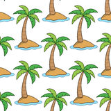 Summer Island Seamless Pattern Royalty Free Stock Image