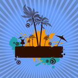 Summer island vector Royalty Free Stock Images
