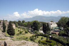 Summer in Italy- Pompei. Summer in Italy-Landscape of Pompei outside the historical side Stock Images