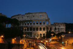 Night view of the Colosseum. Summer. Italy. Rome. Night view of the Colosseum Stock Photos