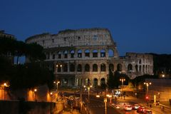 Night view of the Colosseum. Summer. Italy. Rome. Night view of the Colosseum Royalty Free Stock Photo
