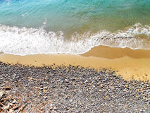 Summer italy sand and rocks Royalty Free Stock Photo