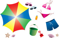 Summer Item Collection Stock Image