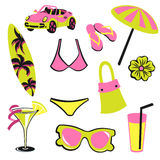 Summer items Stock Photography