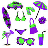Summer items Royalty Free Stock Images