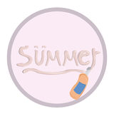 Summer items stock illustration