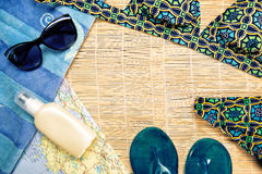 Summer items. Royalty Free Stock Image