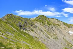 Summer Japanese Mountain Royalty Free Stock Images