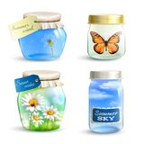 Summer Jar Set Royalty Free Stock Images
