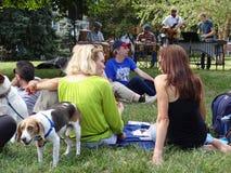 Free Summer Jazz Concert In The Neighborhood Stock Photography - 59694362