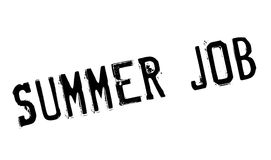 Summer Job rubber stamp Royalty Free Stock Photos