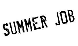 Summer Job rubber stamp Royalty Free Stock Images