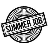 Summer Job rubber stamp Stock Images