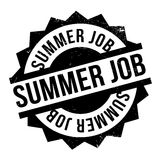 Summer Job rubber stamp. Grunge design with dust scratches. Effects can be easily removed for a clean, crisp look. Color is easily changed Royalty Free Stock Image