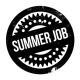 Summer Job rubber stamp. Grunge design with dust scratches. Effects can be easily removed for a clean, crisp look. Color is easily changed Stock Images
