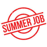 Summer Job rubber stamp. Grunge design with dust scratches. Effects can be easily removed for a clean, crisp look. Color is easily changed Royalty Free Stock Images