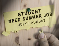 Summer Job, Seasonal Jobs Search Stock Photos