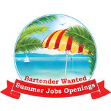 Summer jobs openings. Bartender wanted Royalty Free Stock Photo