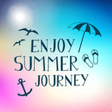 Summer journey hand drawn  poster background Royalty Free Stock Image