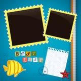 Summer journey memory book Stock Image