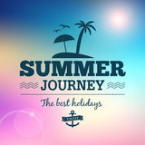 Summer journey vintage poster. Summer journey text typography vintage poster isloated from background Vector Illustration