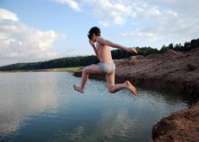 Summer Jump Royalty Free Stock Photography