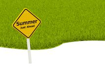 Summer Just Ahead road sign Stock Photography