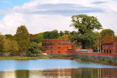 Summer Kaliningrad. Kaliningrad. The Upper Lake. Tower Der Don Royalty Free Stock Photos