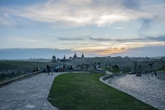 landscape on the castle in Kamianets-Podilskyi royalty free stock images