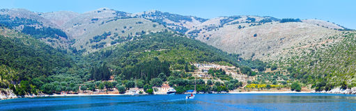 Summer Kefalonia coast (Greece) Royalty Free Stock Photos