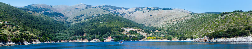 Summer Kefalonia coast panorama (Greece) Stock Image