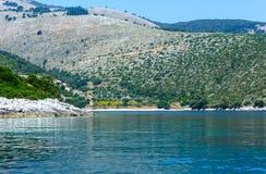 Summer Kefalonia coast view (Greece) Stock Image