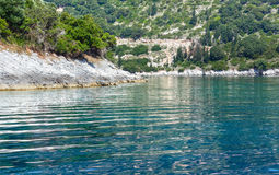 Summer Kefalonia coast view (Greece) Royalty Free Stock Photos