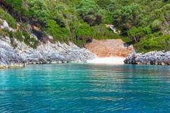 Summer Kefalonia coast view (Greece) Stock Photos