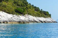 Summer Kefalonia coast view (Greece) Royalty Free Stock Photo