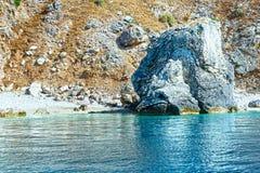 Summer Kefalonia coast view (Greece) Royalty Free Stock Photography
