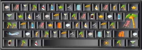 Summer keyboard of the computer.  Stock Photo